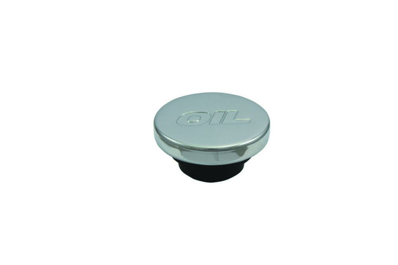 Specialty Products 7482-O Oil Fill Cap, Push-On, Round, 1-1/4 in Valve Cover Hole, Steel, Chrome, Each