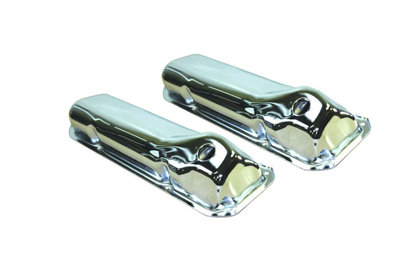 Specialty Products 8332 Valve Cover, Stock Height, Baffled, Breather Holes, Steel, Chrome, Ford Cleveland / Modified, Pair