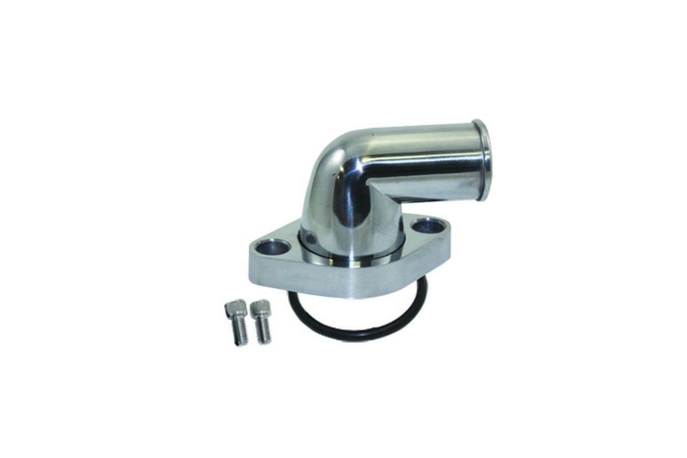 Specialty Products 8456 Water Neck, 90 Degree, 1-1/2 in ID Hose, Swivel, O-Ring, Hardware Included, Aluminum, Polished, Chevy V8, Each