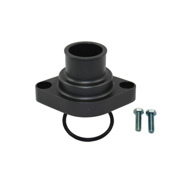 Specialty Products 8457BK Water Neck, Straight, 1-1/2 in ID Hose, O-Ring, Aluminum, Black Anodized, Each