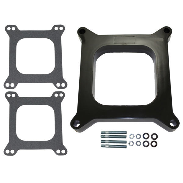 Specialty Products 9136 Carburetor Adapter, 1 in Thick, Open, Carter AFB to Square Bore, Gaskets / Hardware Included, Phenolic, Natural, Each