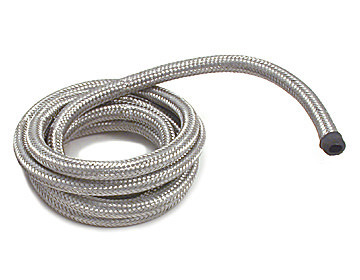 Spectre 19206 Hose, Flex Vac, 7/32 in ID, 6 ft, Braided Stainless, Rubber, Natural, Each