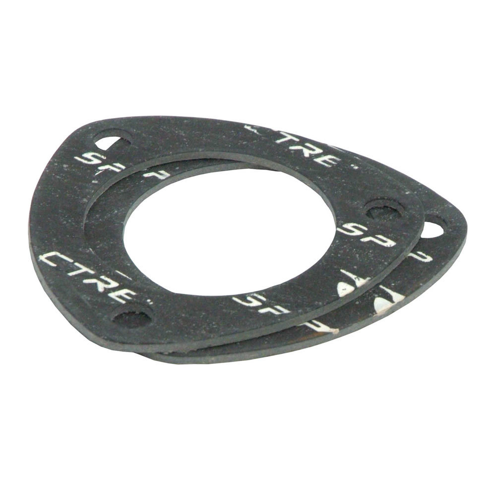 Spectre 431 Collector Gasket, 3 in Diameter, 3-Bolt, Compressed Ceramic Fiber, Pair