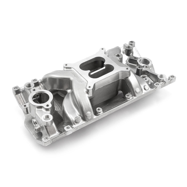Speedmaster 1-147-011 Intake Manifold, MidRise Air, Square Bore, Single Plane, Aluminum, Polished, Vortec, Small Block Chevy, Each