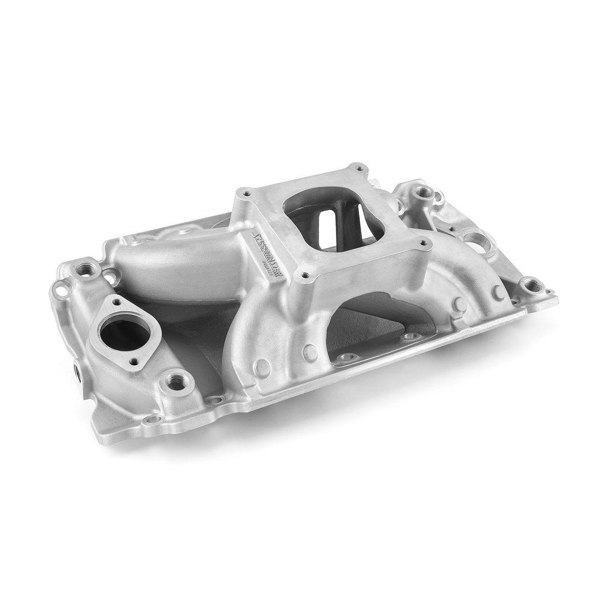 Speedmaster 1-147-022 Intake Manifold, HiRise, Square Bore, Single Plane, Rectangle Port, Aluminum, Natural, Big Block Chevy, Each