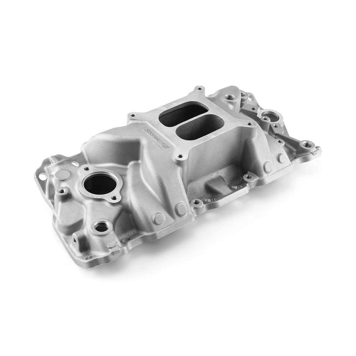 Speedmaster 1-147-031 Intake Manifold, MidRise Air, Square Bore, Dual Plane, Aluminum, Natural, Small Block Chevy, Each