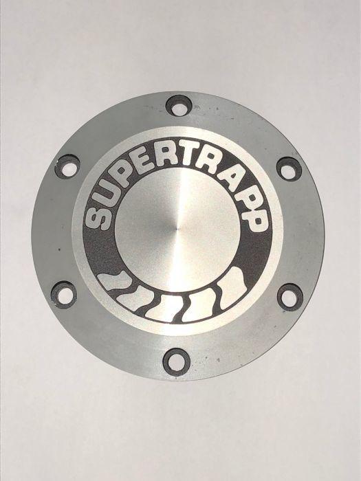 4in Aluminum End Cap & Shield w/Logo