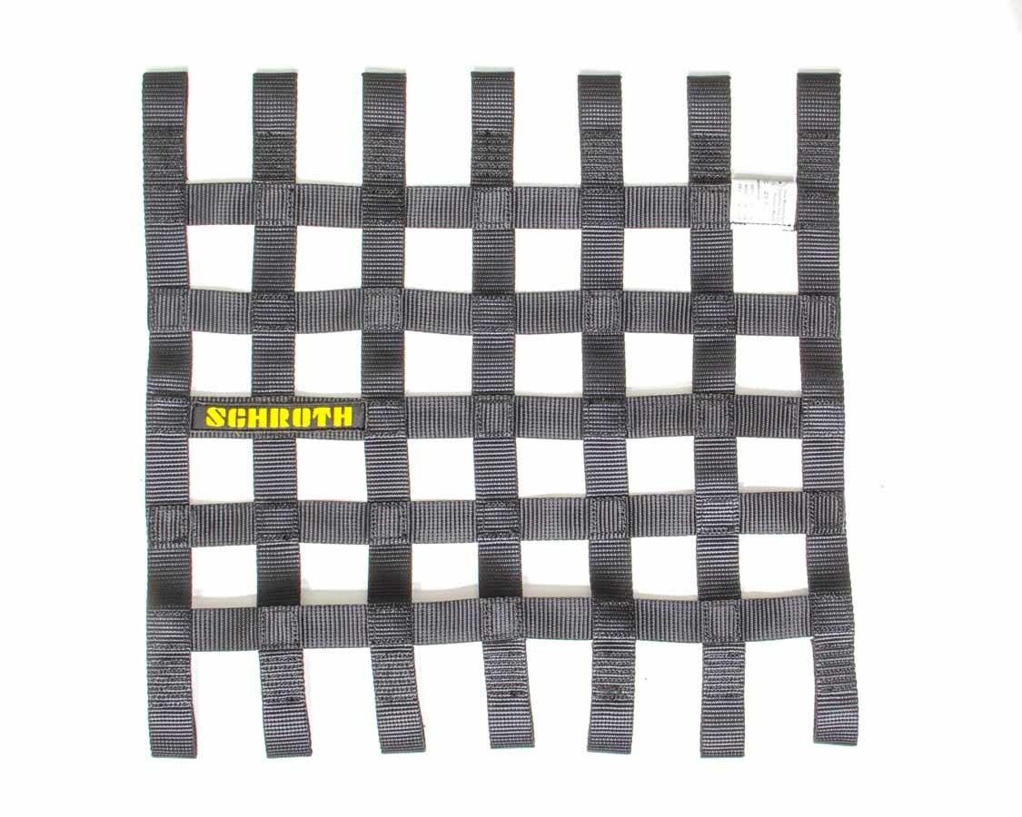 Schroth Racing SR09053-0 Window Net, SFI 27.1, FIA Approved, 1 in Webbing, 16 in Square, Black, Each