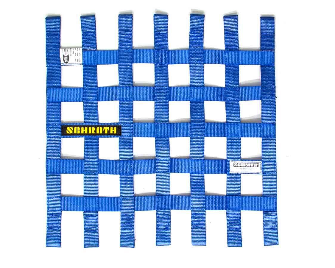 Schroth Racing SR09053-1 Window Net, SFI 27.1, FIA Approved, 1 in Webbing, 16 in Square, Blue, Each