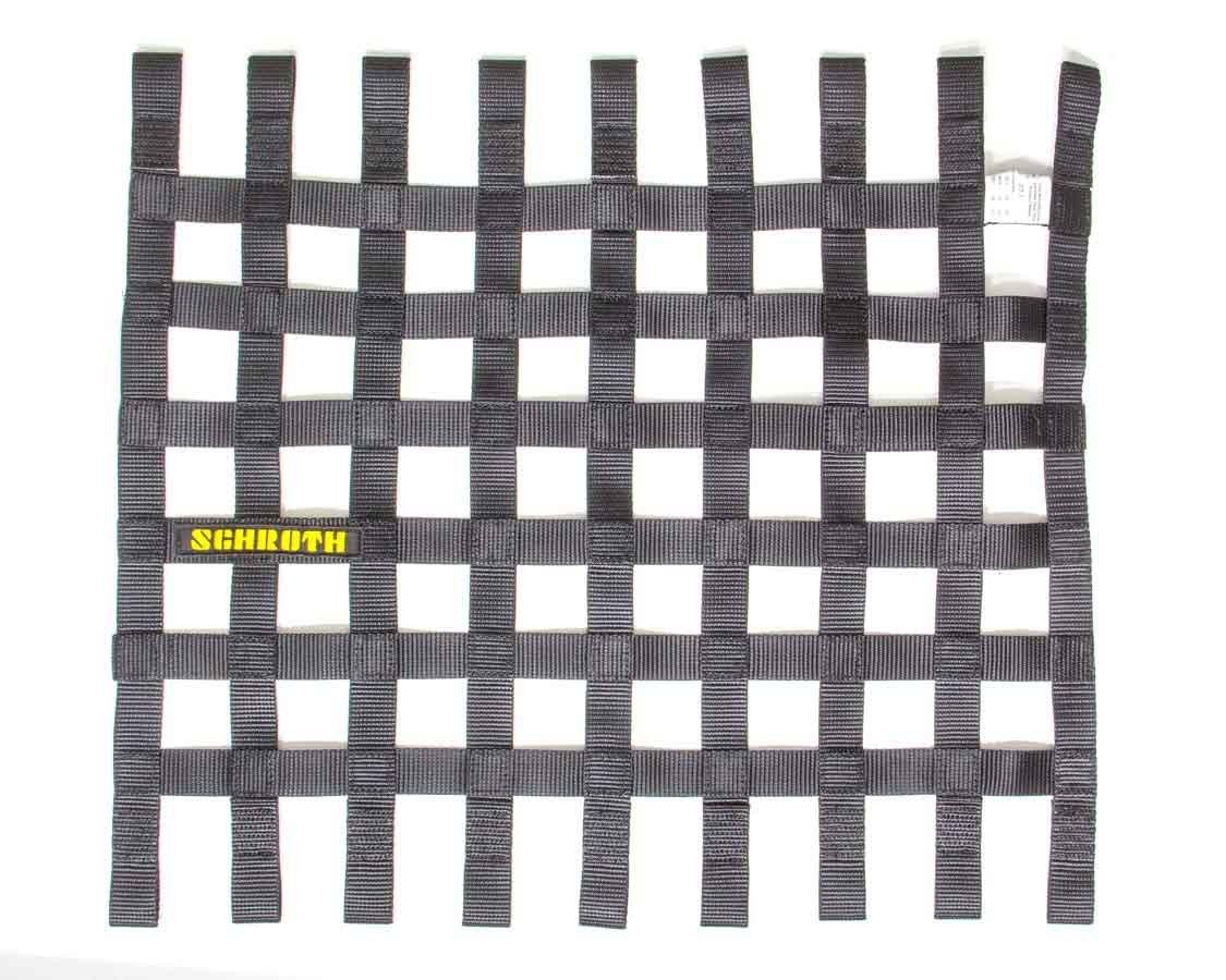 Schroth Racing SR09055-0 Window Net, SFI 27.1, FIA Approved, 1 in Webbing, 18-1/2 x 24 in Rectangle, Black, Each
