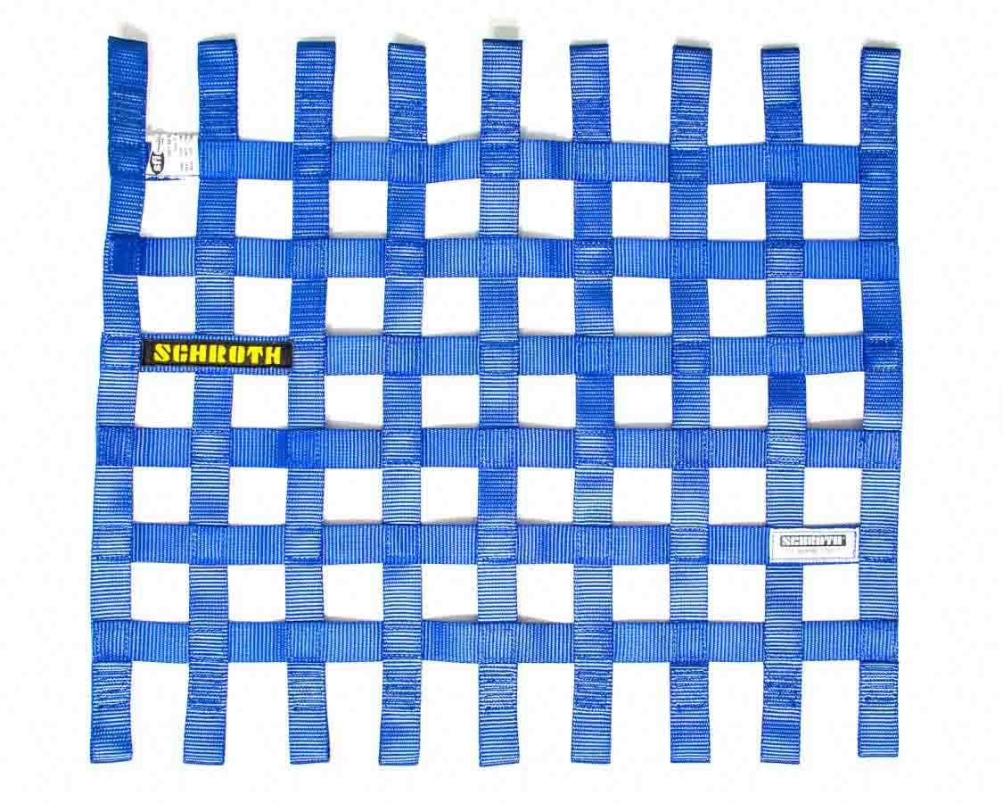 Schroth Racing SR09055-1 Window Net, SFI 27.1, FIA Approved, 1 in Webbing, 18-1/2 x 24 in Rectangle, Blue, Each
