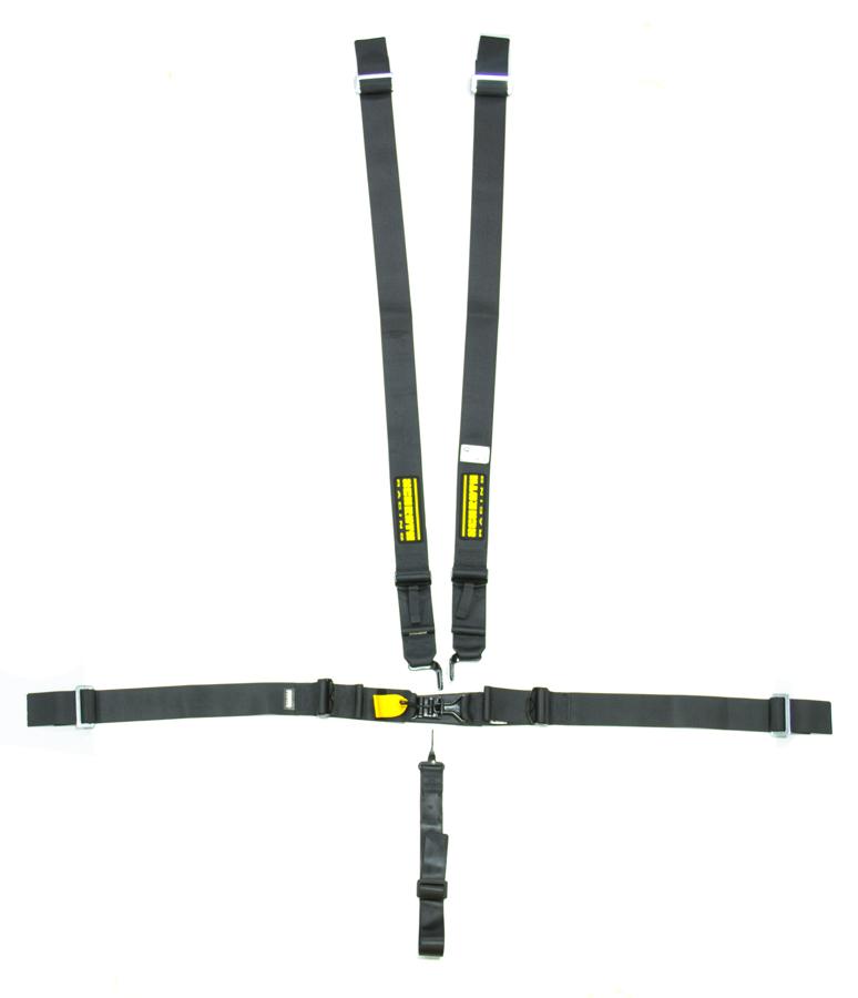 5pt Harness System SFI LatchLink Black 3in Shld