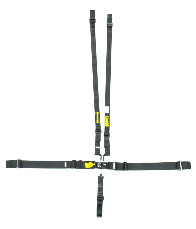 5pt Harness System SFI LatchLink Black HANS