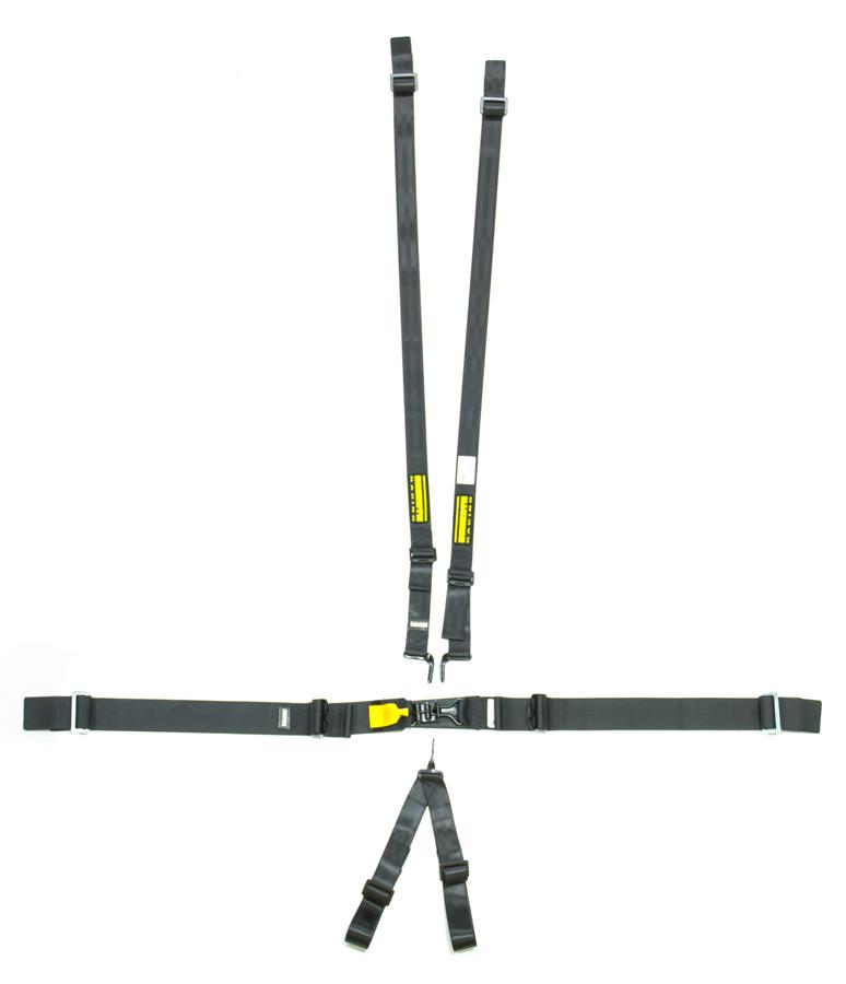 6pt Harness System SFI LatchLink Black HANS