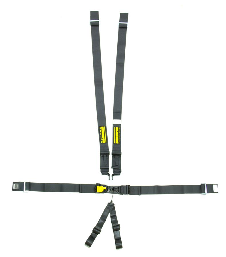 6pt Harness System SFI LatchLink Black 3in Shld