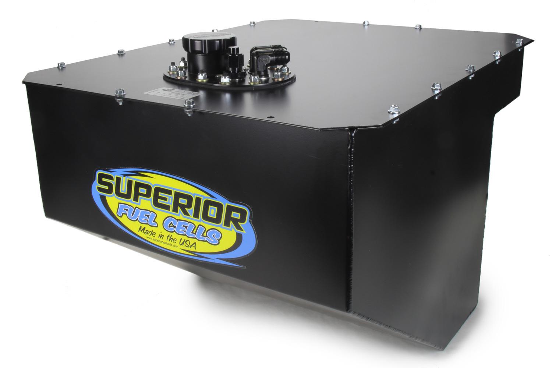 Superior Fuel Cells SFC26BMTF-AL-BL-SFI Fuel Cell 26 Gal w/Foam SFI Alum Can Black Mamba