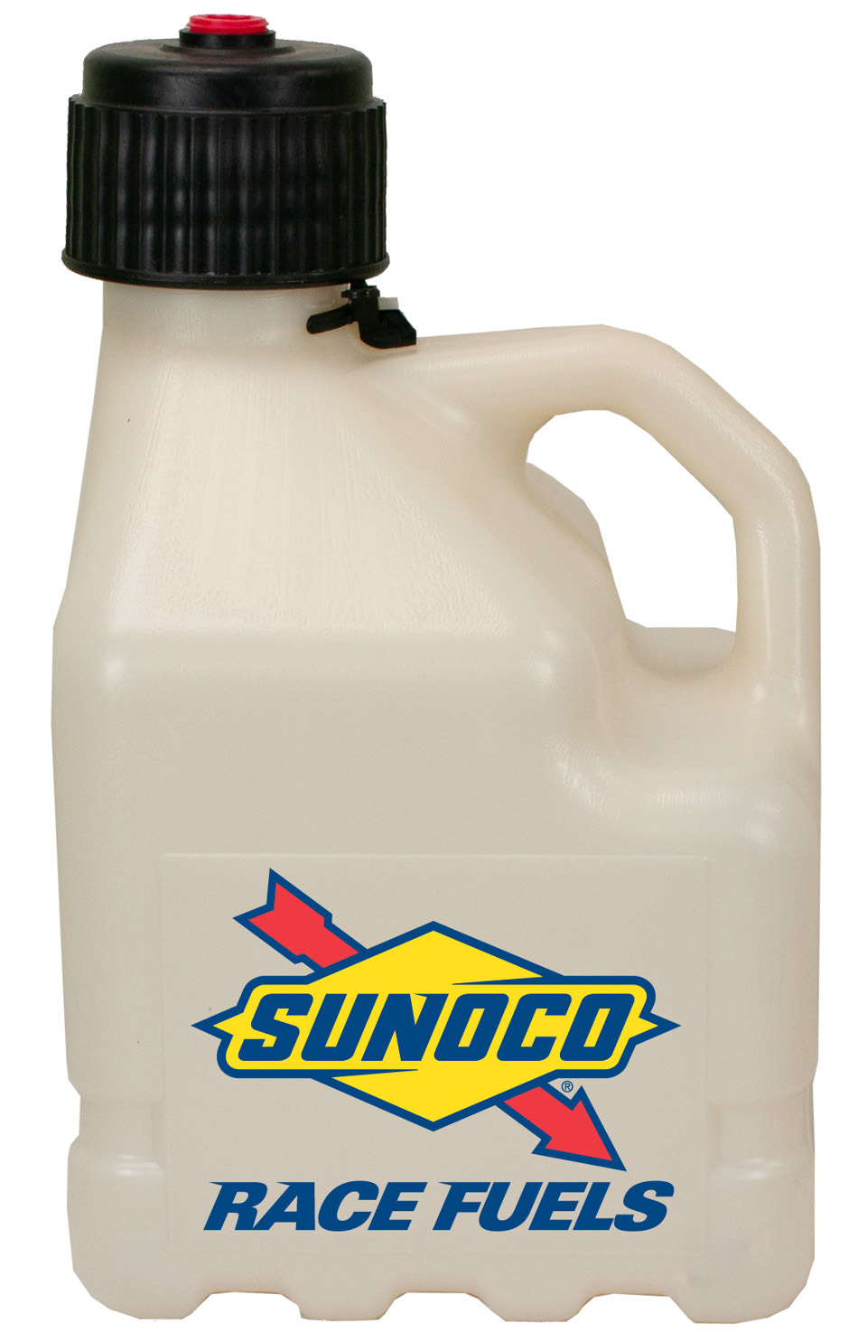Sunoco Race Jugs R3100CL Utility Jug, 3 gal, O-Ring Seal Cap, Flip-Up Vent, Square, Plastic, Clear, Each