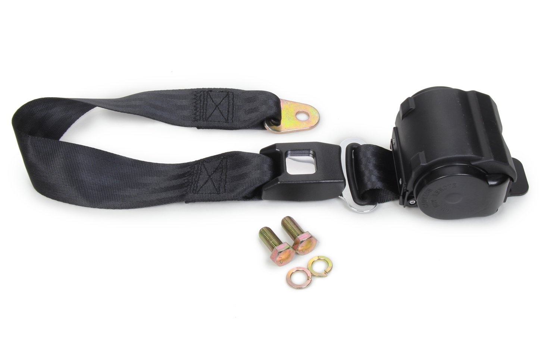2 Point Retractable Lap Belt Black