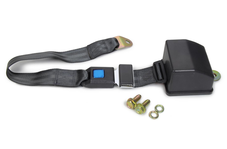 2 Point Retractable Lap Belt Charcoal