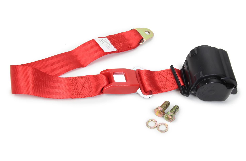 2 Point Retractable Lap Belt Red