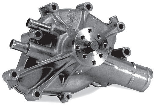 Stewart 16173 Water Pump, Mechanical, Stage 1, Reverse Rotation, 5/8 in Pilot, Iron, Natural, Small Block Ford, Each