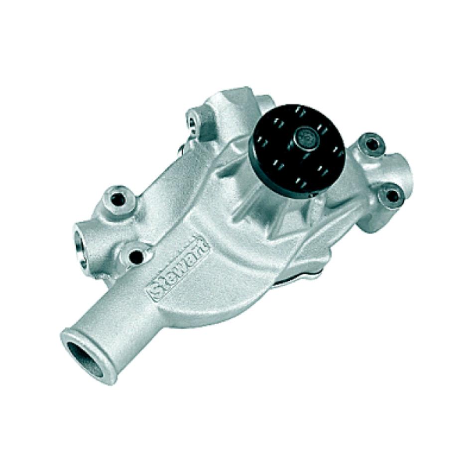 Stewart 43143 Water Pump, Mechanical, Stage 4, 3/4 in Pilot, Short Design, Aluminum, Natural, Small Block Chevy, Each