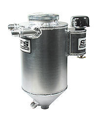 Stefs 4110 Oil Tank, Dry Sump, 6 qt, 14-3/4 in Tall x 7 in Diameter, 12 AN Male Inlet, 12 AN Male Outlet, Heater / Mounting Hardware Included, Aluminum, Natural, Kit