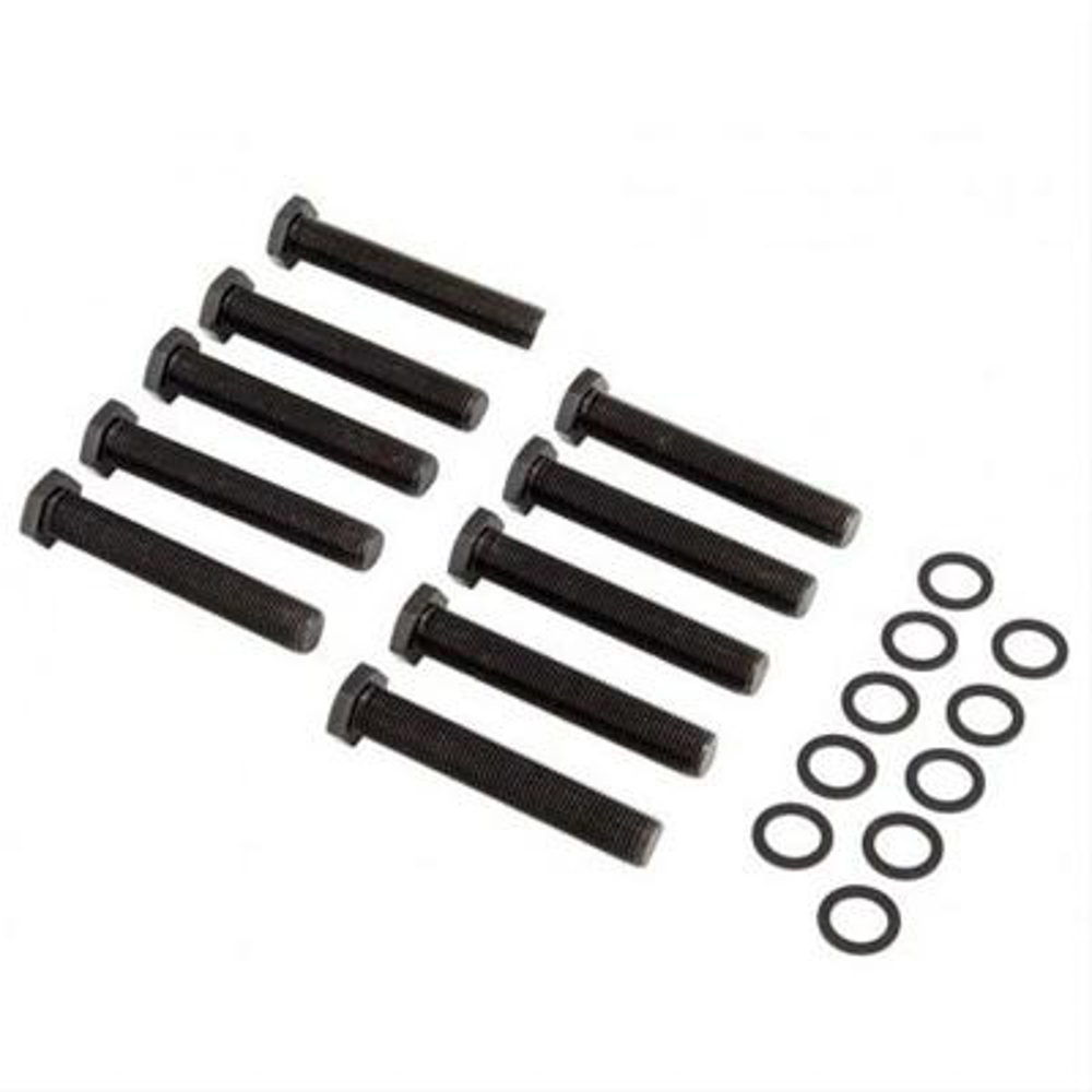 Strange A1026 Wheel Stud, 1/2-20 in Thread, 3.000 in Long, Screw-In, Hex Head, Washers Included, Strange Axles, Set of 10