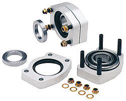 Strange A1030 C-Clip Eliminator Kit, Bearings / Gaskets / Hardware Included, Billet Aluminum, Machined, Strange Axles, GM 10-Bolt, Kit