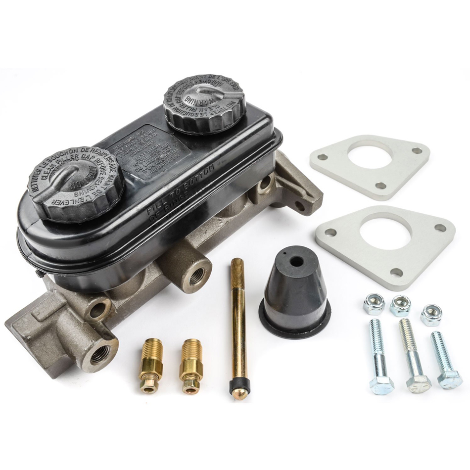 Strange B3359M Master Cylinder, 1-1/8 in Bore, Manual Conversion, Aluminum, Natural, Ford Mustang 1979-93, Kit