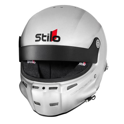 Stilo AA0700AF2M-XL61 Helmet, ST5 GT Composite, Snell SA2015, FIA Approved, Head and Neck Support Ready, Silver, X-Large, Each