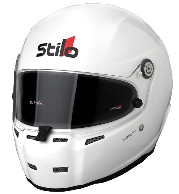 Stilo AA0714AH2Q64 Helmet, ST5 Karting Composite, Snell SA2015, FIA Approved, Head and Neck Support Ready, White, 3X-Large, Each