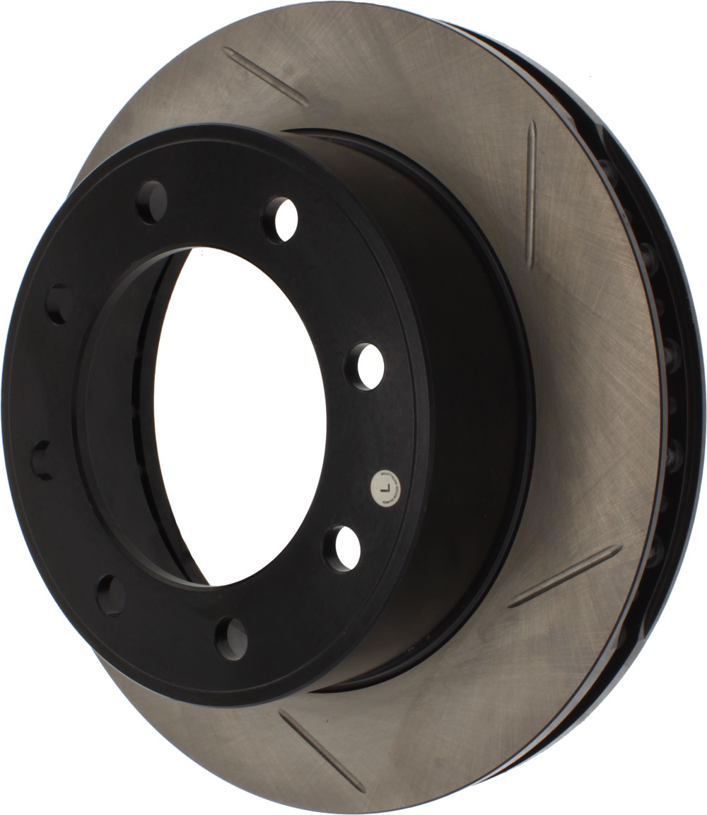 Stoptech 126.65086CSL Brake Rotor, Sport Cryo, Front, Driver Side, Slotted, 331 mm OD, 38 mm Thick, 8 x 170 mm Bolt Pattern, Iron, Black Paint, Each