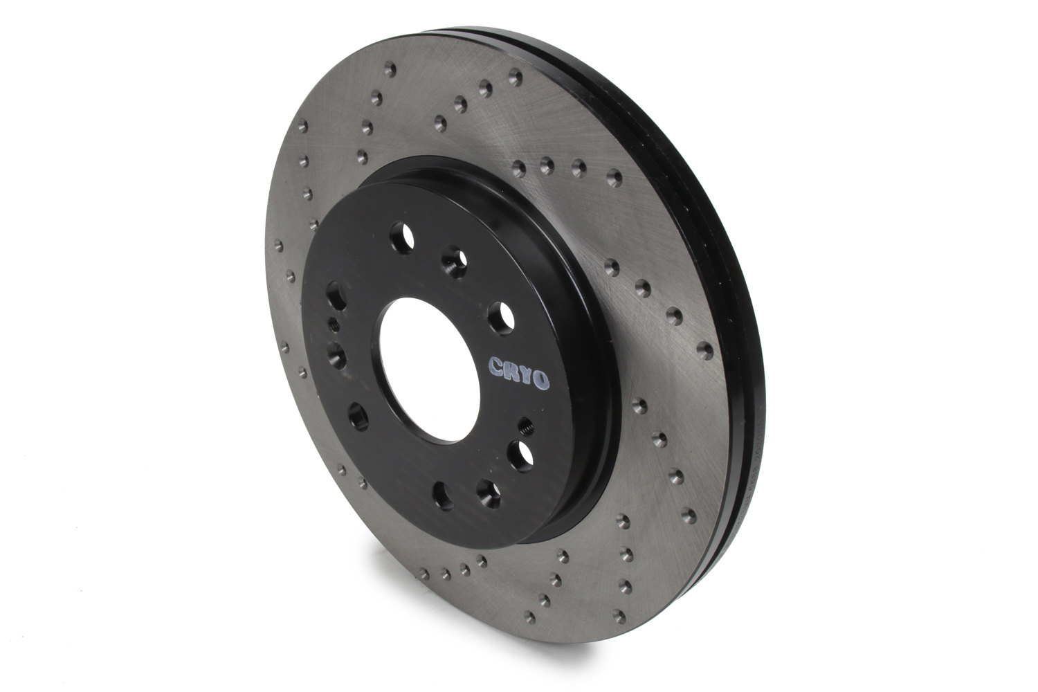 Stoptech 128.66057CR Brake Rotor, Sport Cryo, Front, Passenger Side, Drilled / Slotted, 330 mm OD, 30 mm Thickness, 6 x 140.5 mm Bolt Pattern, Iron, Black Paint, Each
