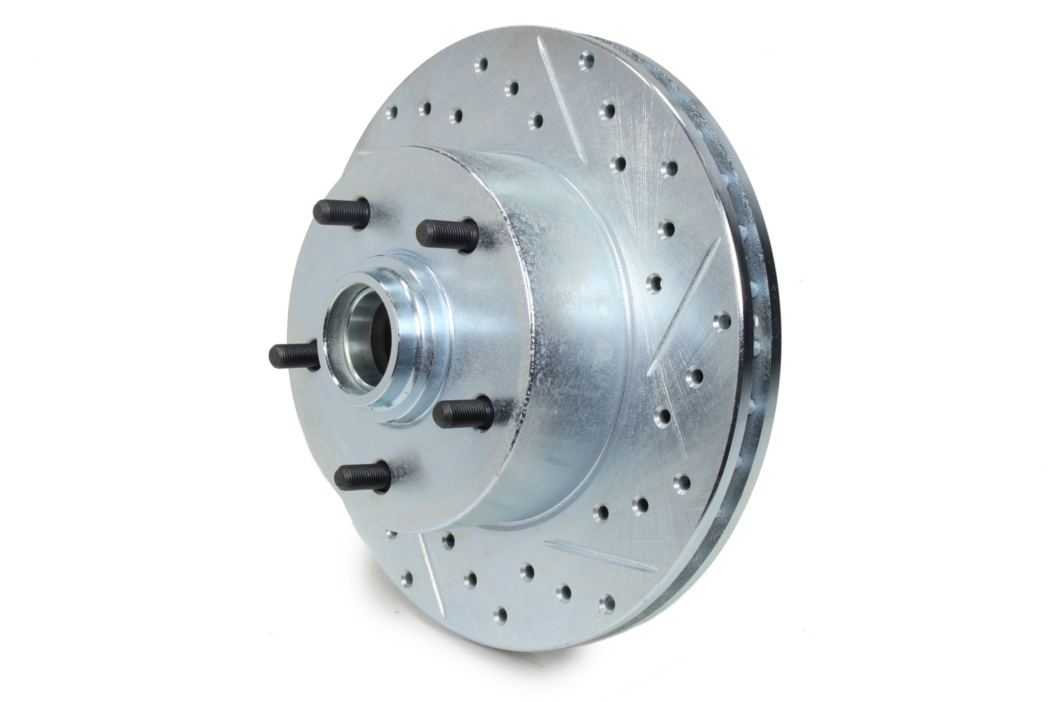 Stoptech 227.62000L Brake Rotor, Sport, Front, Driver Side, Drilled / Slotted, 279.3 mm OD, 26.3 mm Thick, 5 x 120.6 mm Bolt Pattern, Iron, Natural, Each