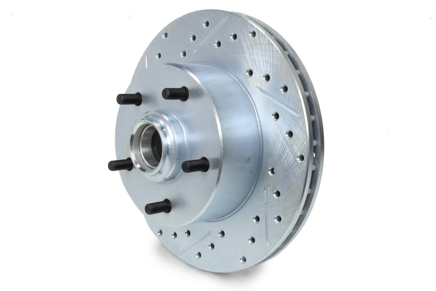 Stoptech 227.62000R Brake Rotor, Sport, Front, Passenger Side, Drilled / Slotted, 279.3 mm OD, 26.3 mm Thick, 5 x 120.6 mm Bolt Pattern, Iron, Natural, Each