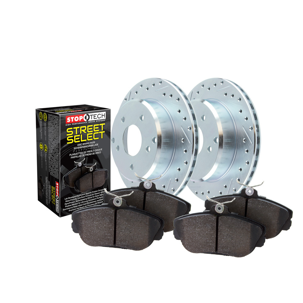 Stoptech 928.66015 Brake Rotor and Pad Kit, Sport, Front, Ceramic Pads, Iron, Natural, GM Fullsize SUV / Truck 2005-20, Kit
