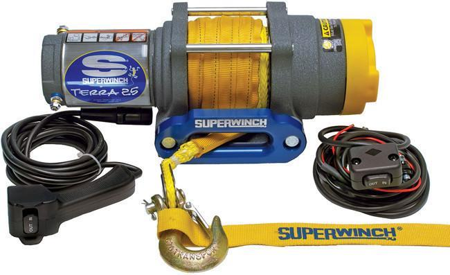 Terra25SR 2500 Lb Winch Synthetic Rope