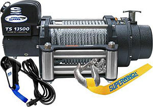 13500# Winch w/Roller Fairlead & 12ft Remote