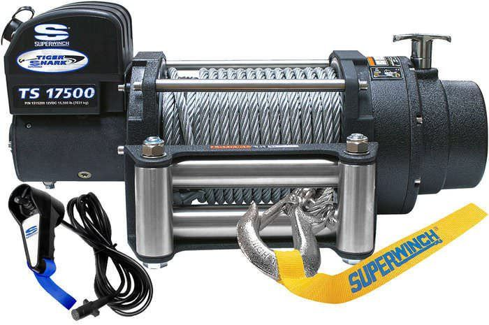 Tiger Shark 17500# Winch w/Roller Fairlead