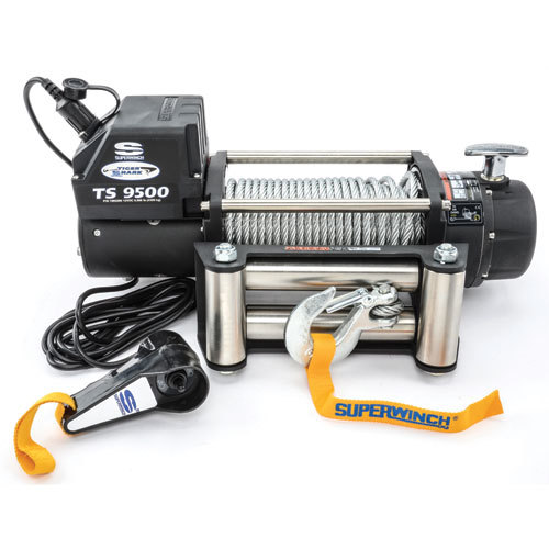 9500# Winch w/Roller Fairlead & 12ft Remote