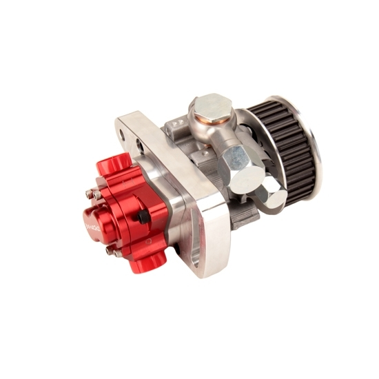 Sweet 305-85900 Tandem Pump, Belt Driven, HTD Pulley, 33 Tooth, Aluminum, Clear / Red Anodize, Gas / Alcohol, Each