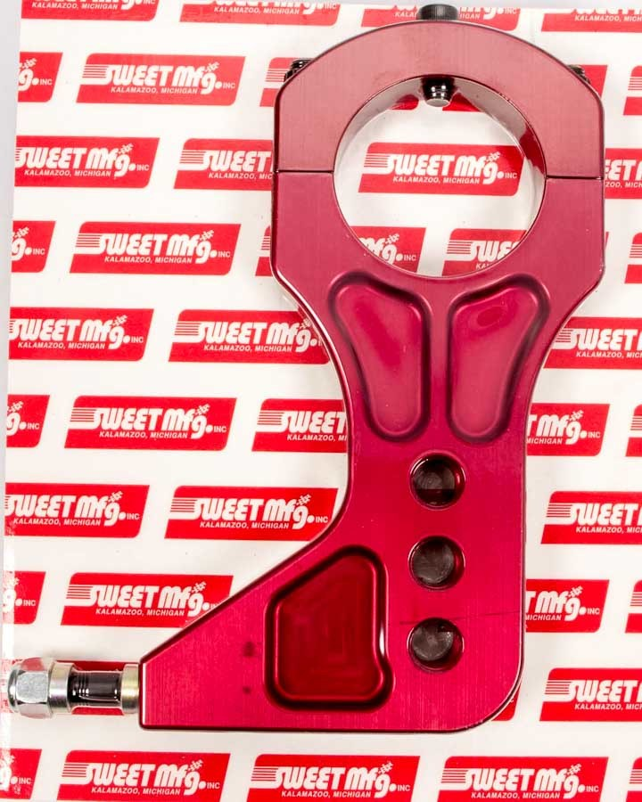 Sweet 501-60007 Trailing Arm Bracket, Rear, Clamp / Bolt-On, Billet Aluminum, Red Anodize, 3 in Axle Tube, Each