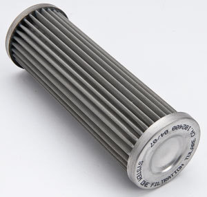 System One 208-102700 Oil Filter Element, 75 Micron Stainless Screen, System One Long Billet In-Line Filters, Each