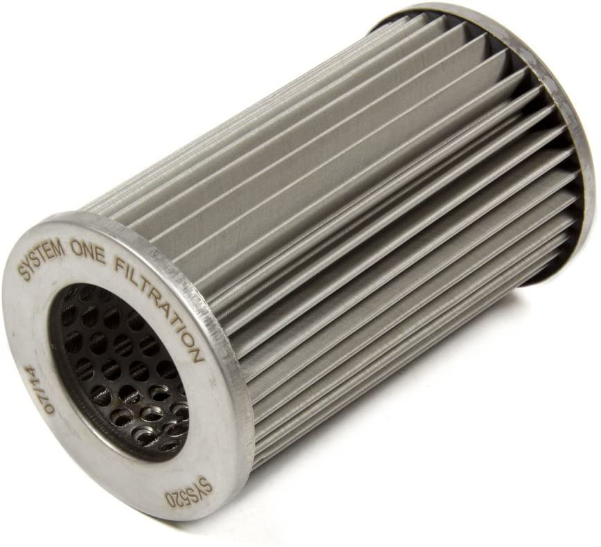 System One 208-510 Fuel Filter Element, 10 Micron, Stainless Steel Mesh, Fits Filter Canister SYS209-510B, Each
