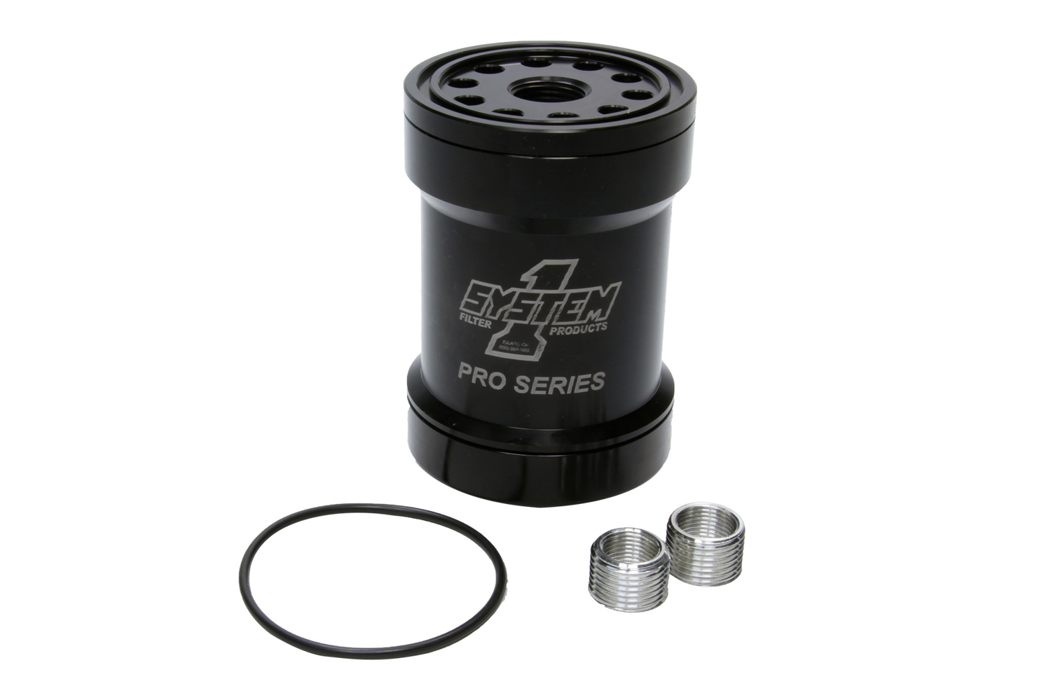 Billet Oil Filter w/Blt Cap 45 Micron - Black