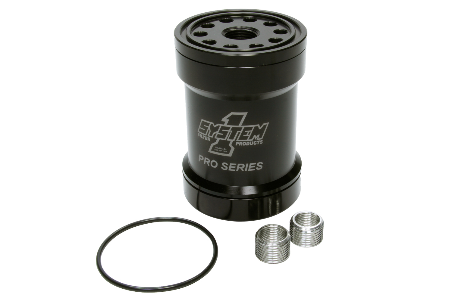 Billet Oil Filter w/Blt Cap 75 Micron - Black