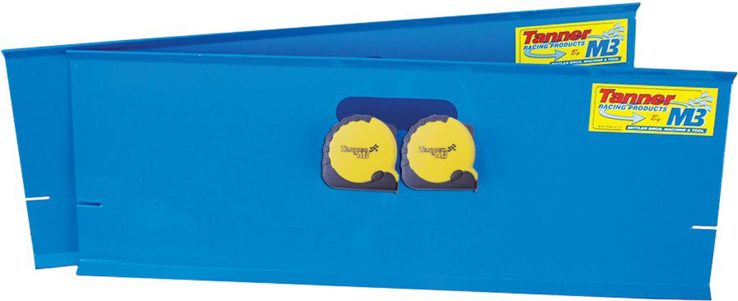 Tanner 56200 Toe-In Plates, 2 Plates, 2 Tape Measures, Aluminum, Blue Anodize, Kit