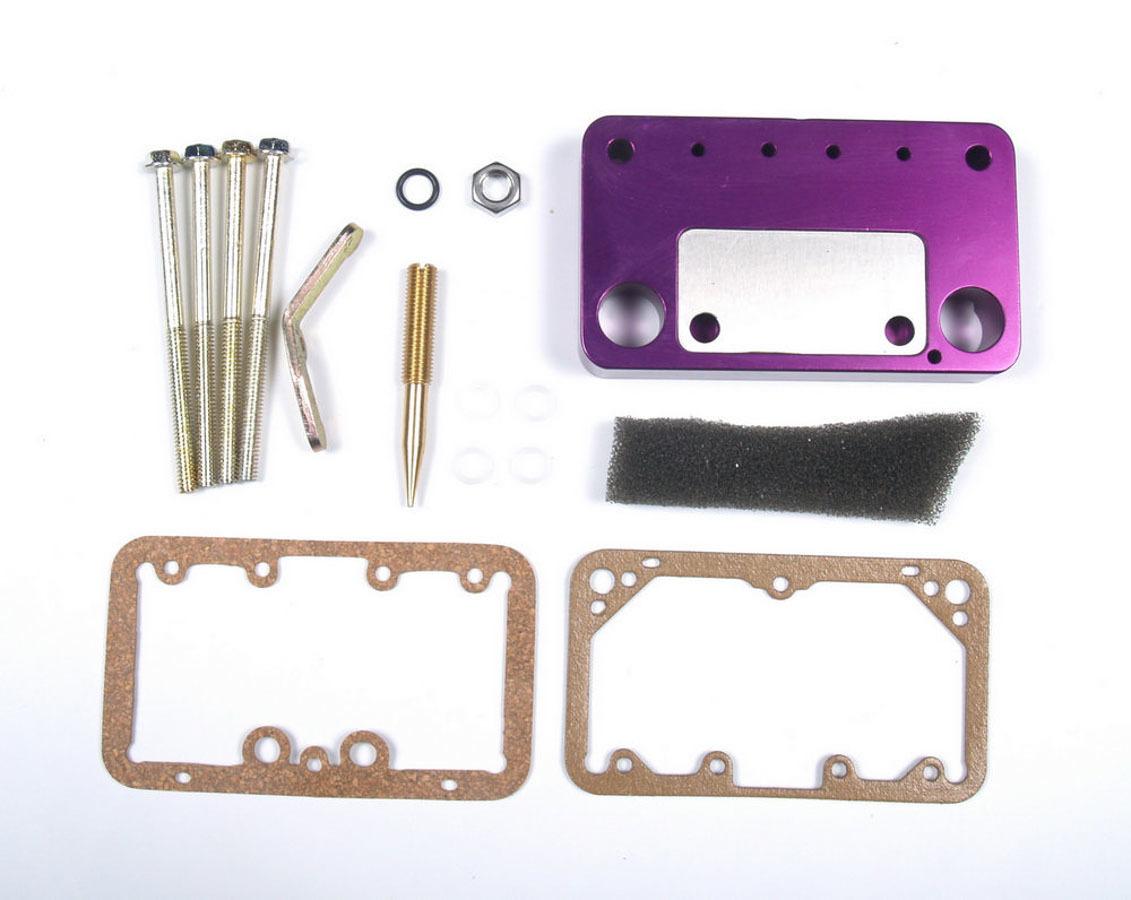 Taylor 15001 Adjustable Carb Jet Kit, Street/Strip Adjust -A-Jet, Gaskets/Hardware/Plate, Plastic, Purple, Holley/Demon Carburetors, Kit