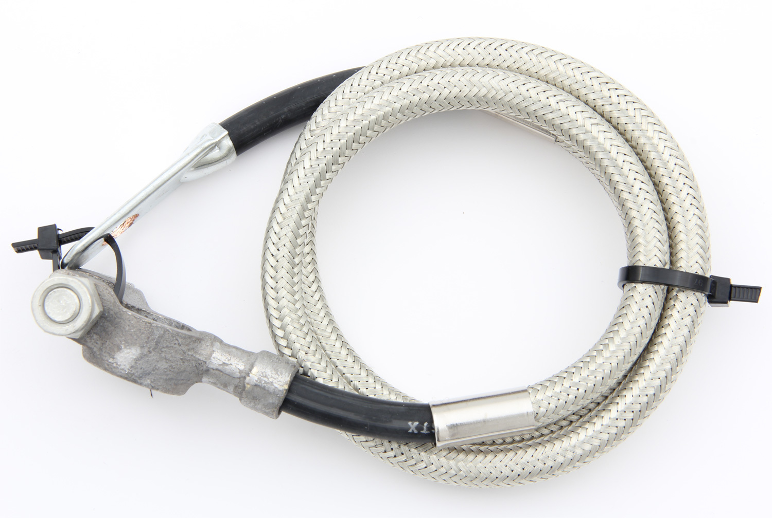 Taylor 20048 Battery Cable, Diamondback, 4 Gauge, 48 in, Crimped Terminals, Top Post Terminal, Eyelet Terminal, Copper, Braided Stainless, Each